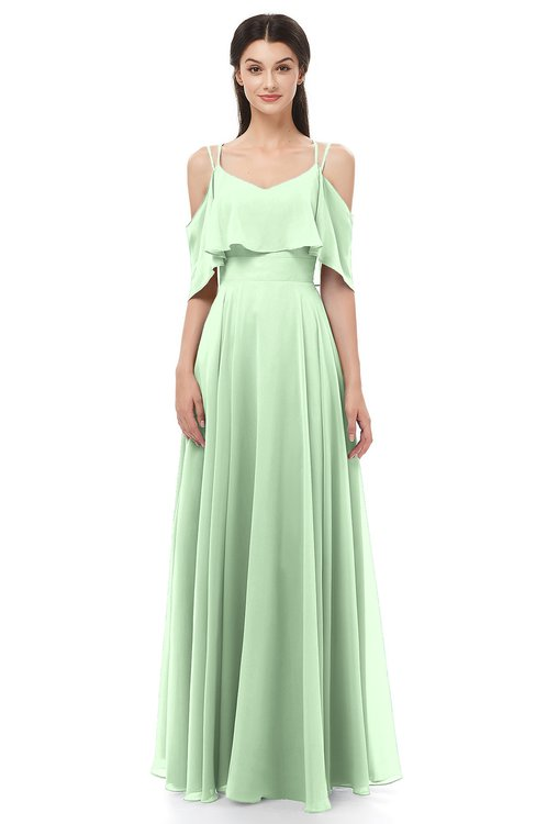 9f4efc988aa ... ColsBM Jamie Light Green Bridesmaid Dresses Floor Length Pleated V-neck  Half Backless A- ...