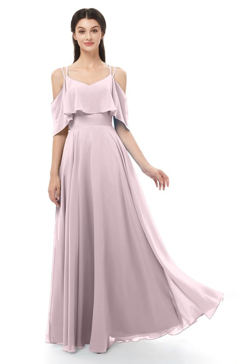 ColsBM Jamie Pale Lilac Bridesmaid Dresses Floor Length Pleated V-neck Half Backless A-line Modern