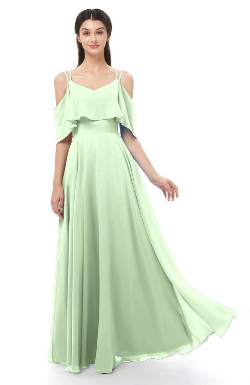 ColsBM Jamie Seacrest Bridesmaid Dresses Floor Length Pleated V-neck Half Backless A-line Modern