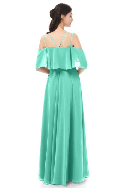 174edcd3e1f ... ColsBM Jamie Seafoam Green Bridesmaid Dresses Floor Length Pleated V-neck  Half Backless A- ...