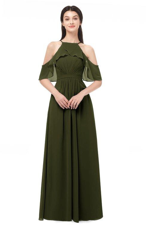 ColsBM Andi Beech Bridesmaid Dresses Zipper Off The Shoulder Elegant Floor Length Sash A-line