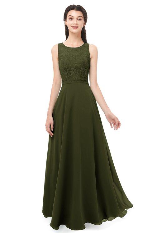 ColsBM Indigo Beech Bridesmaid Dresses Sleeveless Bateau Lace Simple Floor Length Half Backless