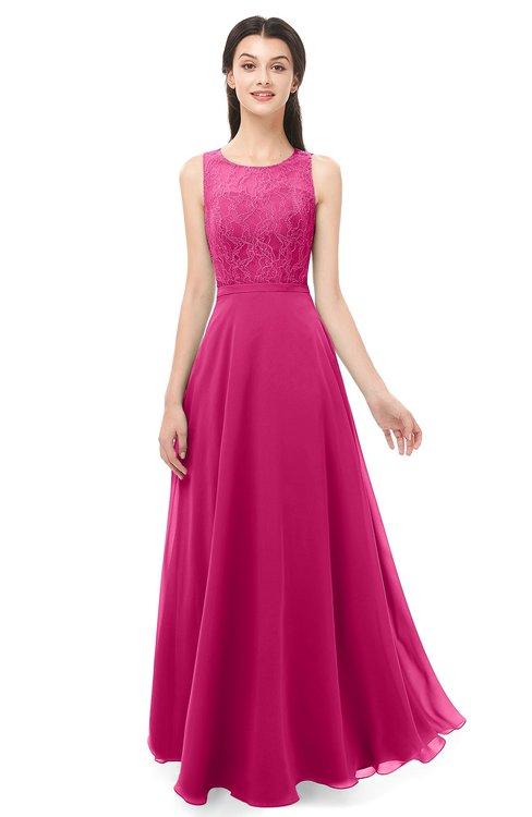 ColsBM Indigo Beetroot Purple Bridesmaid Dresses Sleeveless Bateau Lace Simple Floor Length Half Backless