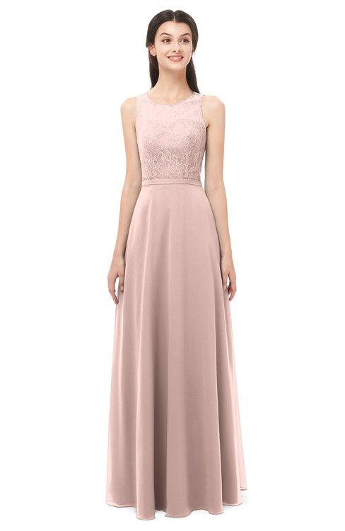 489b910ded0d ... ColsBM Indigo Dusty Rose Bridesmaid Dresses Sleeveless Bateau Lace  Simple Floor Length Half Backless ...