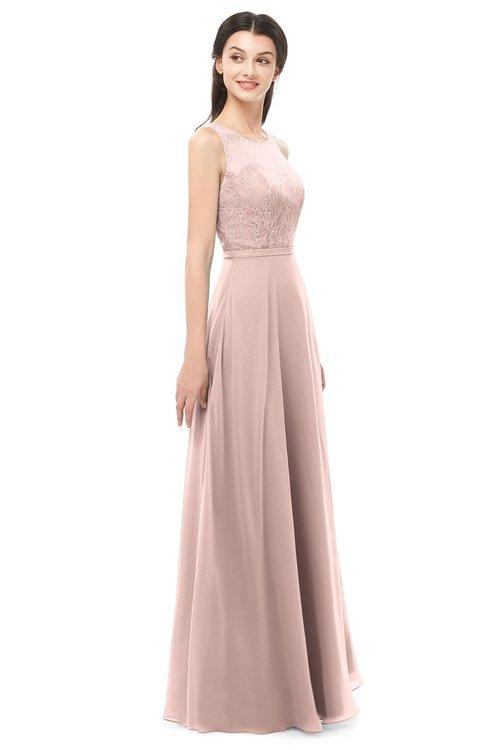 032bf18455da ... ColsBM Indigo Dusty Rose Bridesmaid Dresses Sleeveless Bateau Lace  Simple Floor Length Half Backless