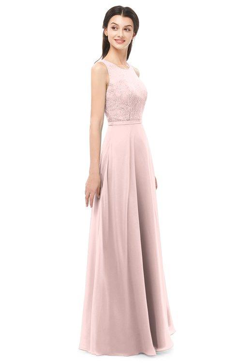 d15923ced3a1 ... ColsBM Indigo Pastel Pink Bridesmaid Dresses Sleeveless Bateau Lace  Simple Floor Length Half Backless