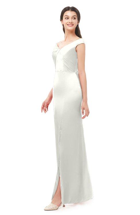 ColsBM Maryam Ivory Bridesmaid Dresses Mature Sheath Off The Shoulder Floor Length Half Backless Split-Front