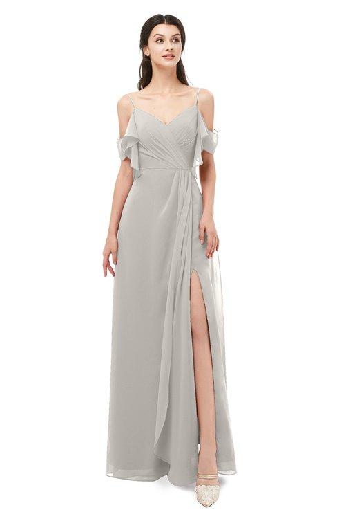 ColsBM Blair Ashes Of Roses Bridesmaid Dresses Spaghetti Zipper Simple A-line Ruching Short Sleeve