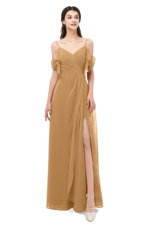 ColsBM Blair Doe Bridesmaid Dresses Spaghetti Zipper Simple A-line Ruching Short Sleeve