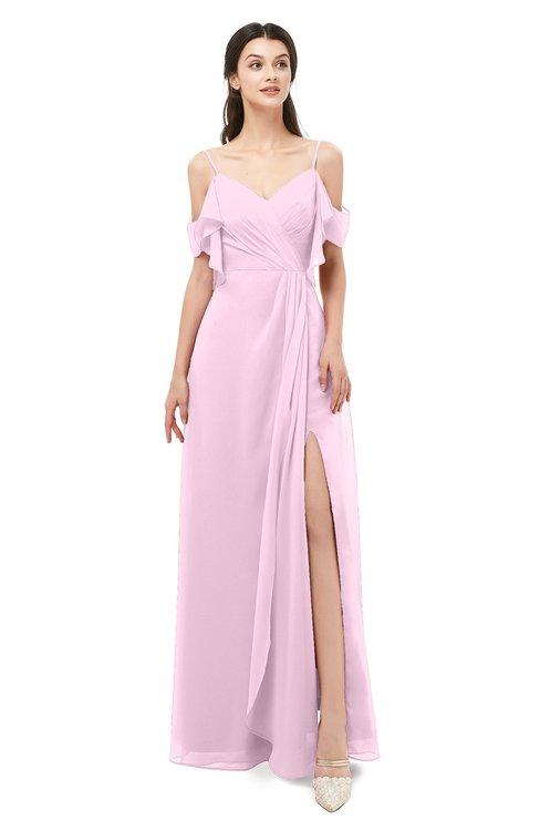 ColsBM Blair Fairy Tale Bridesmaid Dresses Spaghetti Zipper Simple A-line Ruching Short Sleeve