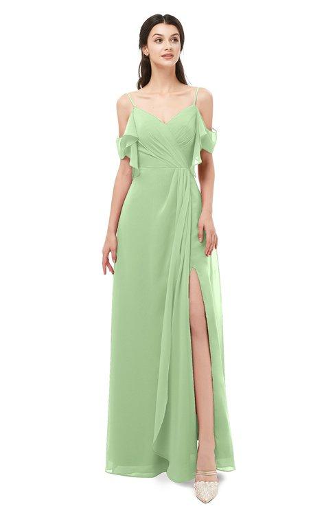 ColsBM Blair Gleam Bridesmaid Dresses Spaghetti Zipper Simple A-line Ruching Short Sleeve