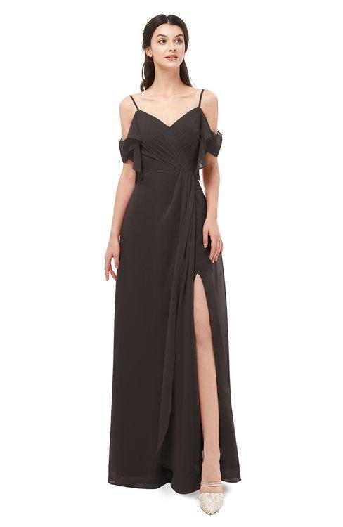 ColsBM Blair Java Bridesmaid Dresses Spaghetti Zipper Simple A-line Ruching Short Sleeve