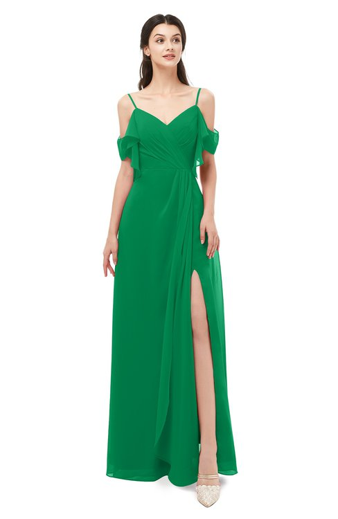 ColsBM Blair Jelly Bean Bridesmaid Dresses Spaghetti Zipper Simple A-line Ruching Short Sleeve
