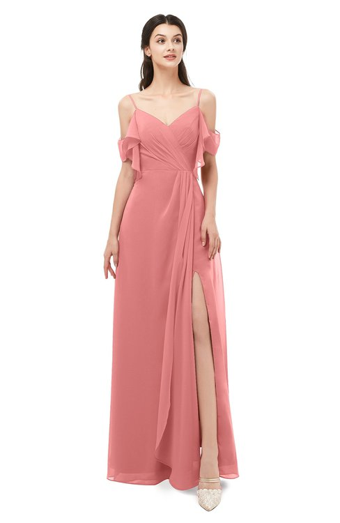 ColsBM Blair Lantana Bridesmaid Dresses Spaghetti Zipper Simple A-line Ruching Short Sleeve