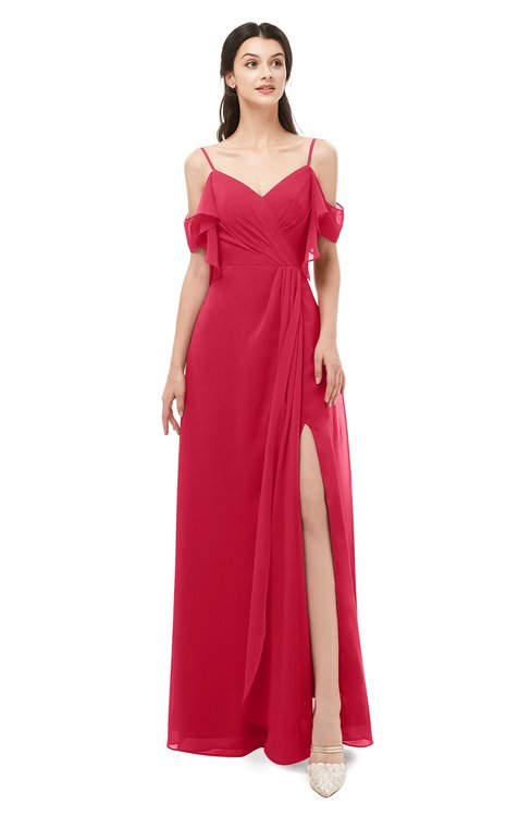 ColsBM Blair Lollipop Bridesmaid Dresses Spaghetti Zipper Simple A-line Ruching Short Sleeve