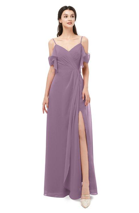 ColsBM Blair Mauve Bridesmaid Dresses Spaghetti Zipper Simple A-line Ruching Short Sleeve