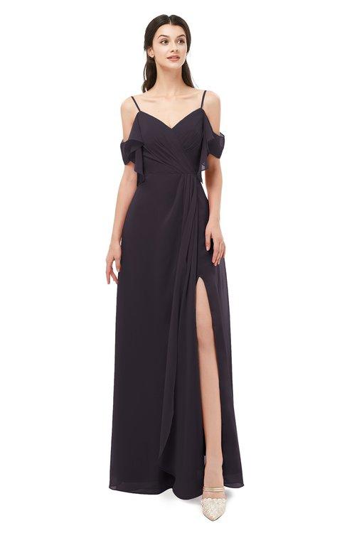 ColsBM Blair Perfect Plum Bridesmaid Dresses Spaghetti Zipper Simple A-line Ruching Short Sleeve