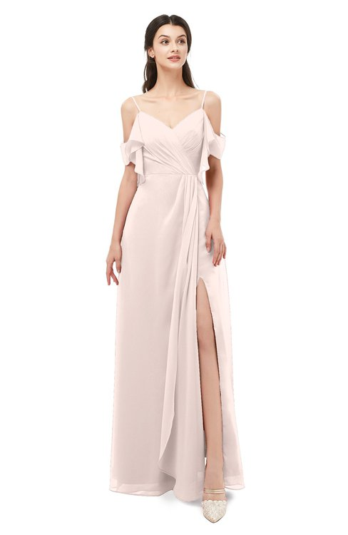 ColsBM Blair Silver Peony Bridesmaid Dresses Spaghetti Zipper Simple A-line Ruching Short Sleeve