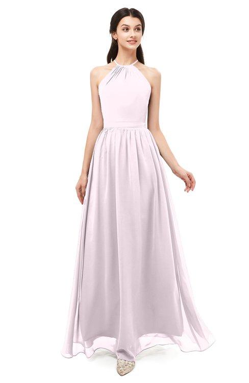 dc4412a24aab3 ... ColsBM Irene Blush Bridesmaid Dresses Sleeveless Halter Criss-cross  Straps Sexy A-line Sash ...