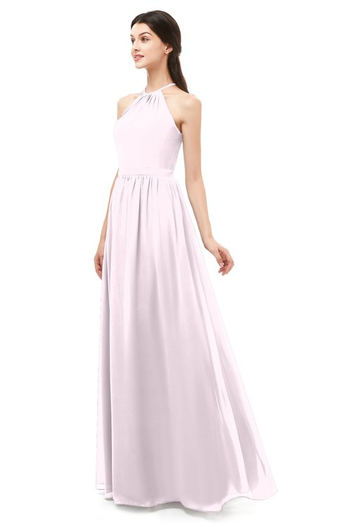 9299efd511d1b ... ColsBM Irene Blush Bridesmaid Dresses Sleeveless Halter Criss-cross  Straps Sexy A-line Sash