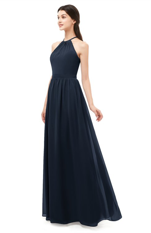 c6bcd3bac8885 ... ColsBM Irene Navy Blue Bridesmaid Dresses Sleeveless Halter Criss-cross  Straps Sexy A-line
