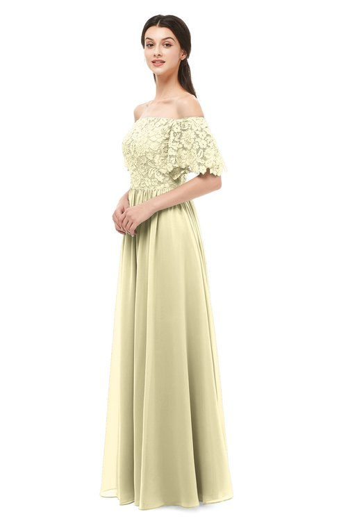 ColsBM Ingrid Anise Flower Bridesmaid Dresses Half Backless Glamorous A-line Strapless Short Sleeve Pleated