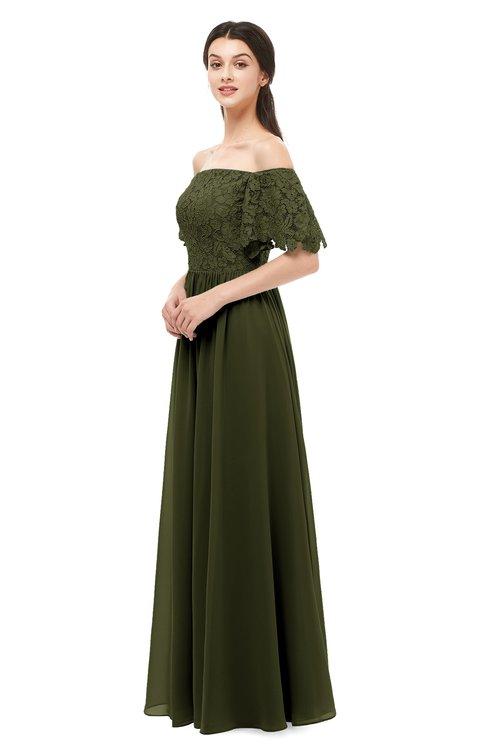 ColsBM Ingrid Beech Bridesmaid Dresses Half Backless Glamorous A-line Strapless Short Sleeve Pleated