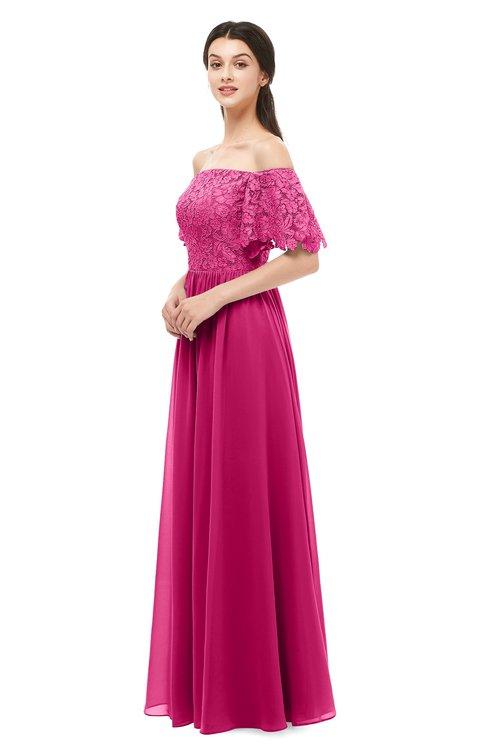 ColsBM Ingrid Beetroot Purple Bridesmaid Dresses Half Backless Glamorous A-line Strapless Short Sleeve Pleated