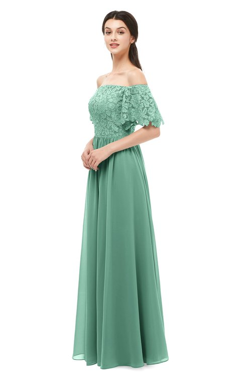 ColsBM Ingrid Beryl Green Bridesmaid Dresses Half Backless Glamorous A-line Strapless Short Sleeve Pleated