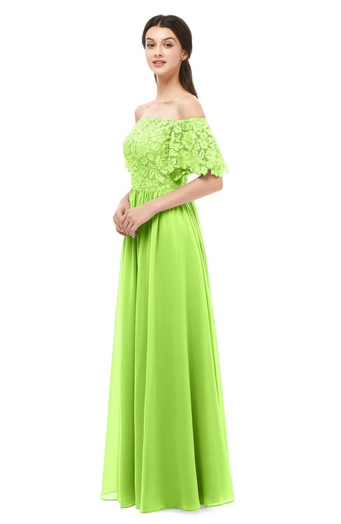 ColsBM Ingrid Bright Green Bridesmaid Dresses Half Backless Glamorous A-line Strapless Short Sleeve Pleated
