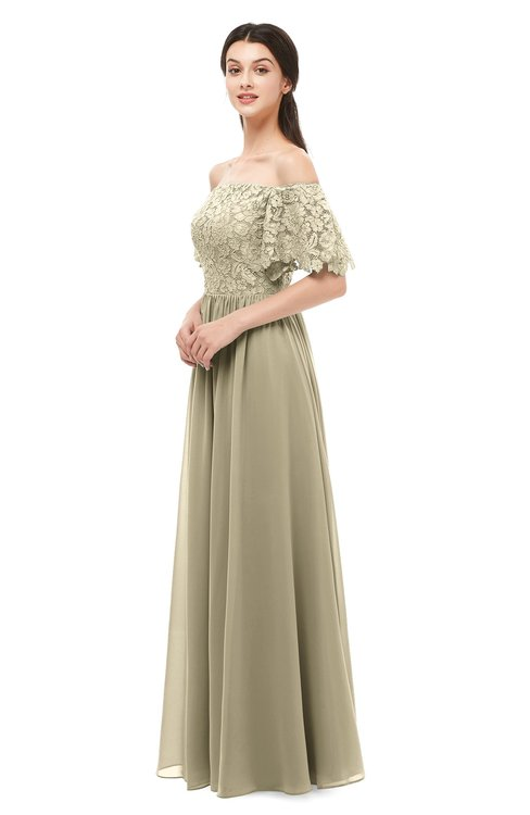 ColsBM Ingrid Candied Ginger Bridesmaid Dresses Half Backless Glamorous A-line Strapless Short Sleeve Pleated