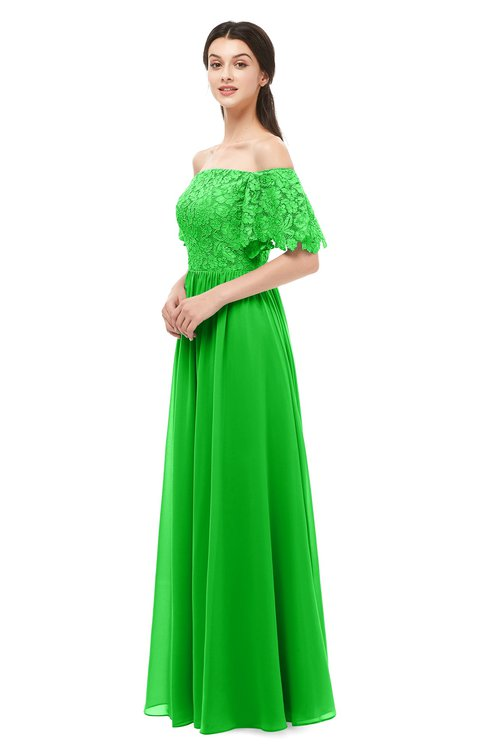 ColsBM Ingrid Classic Green Bridesmaid Dresses Half Backless Glamorous A-line Strapless Short Sleeve Pleated