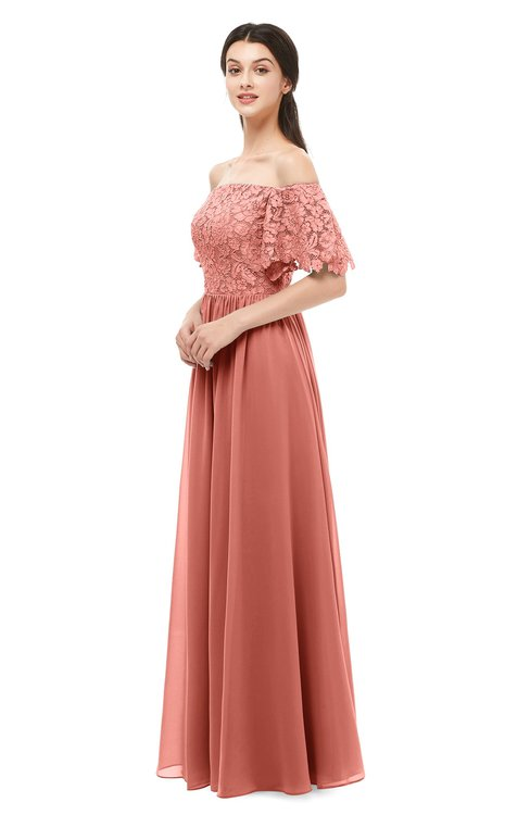 ColsBM Ingrid Crabapple Bridesmaid Dresses Half Backless Glamorous A-line Strapless Short Sleeve Pleated