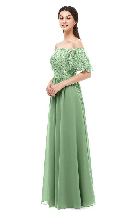 ColsBM Ingrid Fair Green Bridesmaid Dresses Half Backless Glamorous A-line Strapless Short Sleeve Pleated
