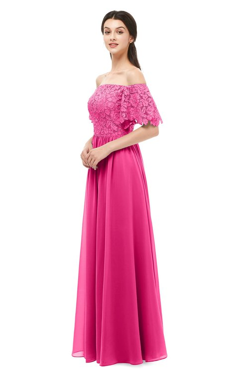 ColsBM Ingrid Fandango Pink Bridesmaid Dresses Half Backless Glamorous A-line Strapless Short Sleeve Pleated