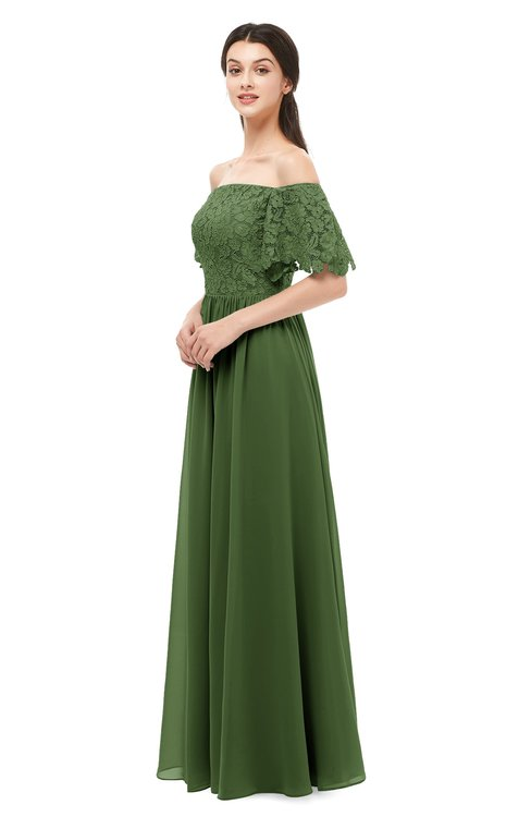 ColsBM Ingrid Garden Green Bridesmaid Dresses Half Backless Glamorous A-line Strapless Short Sleeve Pleated