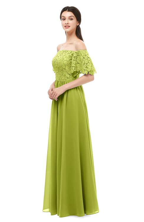 ColsBM Ingrid Green Oasis Bridesmaid Dresses Half Backless Glamorous A-line Strapless Short Sleeve Pleated