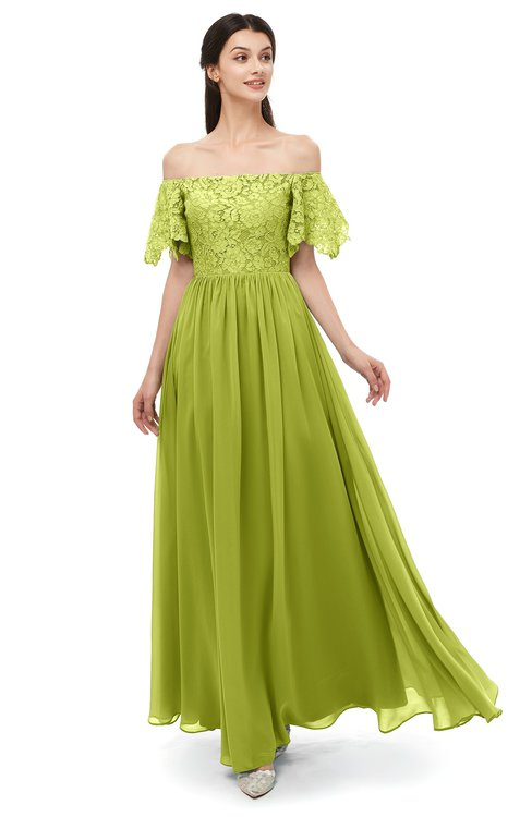 0682d8f566794 ... ColsBM Ingrid Green Oasis Bridesmaid Dresses Half Backless Glamorous A- line Strapless Short Sleeve Pleated ...