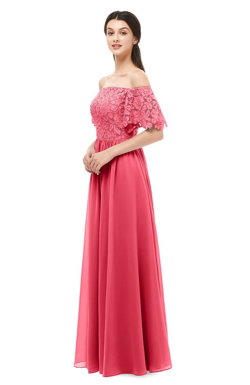 ColsBM Ingrid Guava Bridesmaid Dresses Half Backless Glamorous A-line Strapless Short Sleeve Pleated