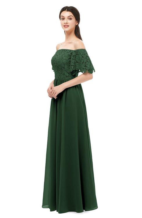 ColsBM Ingrid Hunter Green Bridesmaid Dresses Half Backless Glamorous A-line Strapless Short Sleeve Pleated