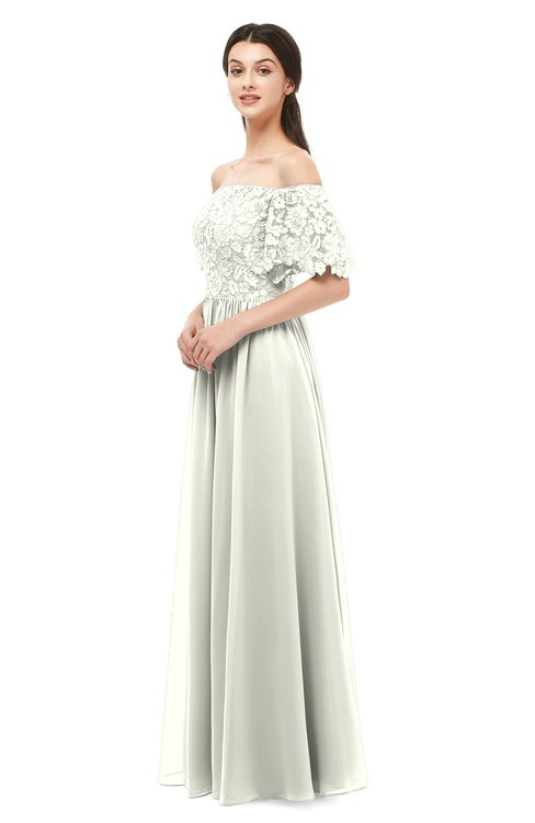 ColsBM Ingrid Ivory Bridesmaid Dresses Half Backless Glamorous A-line Strapless Short Sleeve Pleated