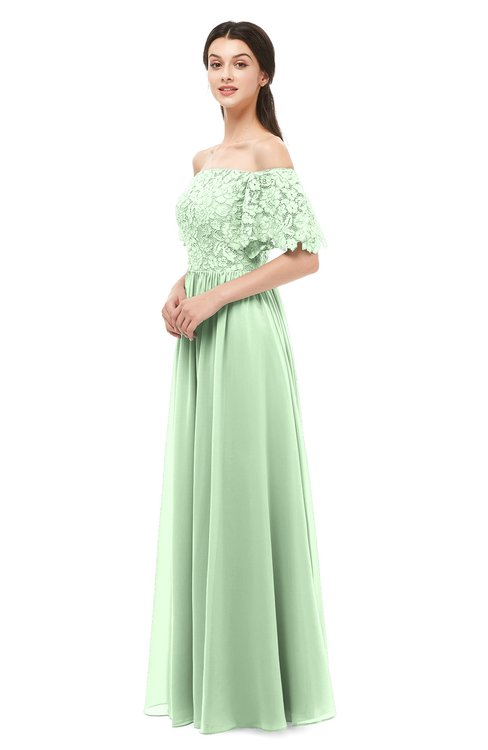 ColsBM Ingrid Light Green Bridesmaid Dresses Half Backless Glamorous A-line Strapless Short Sleeve Pleated