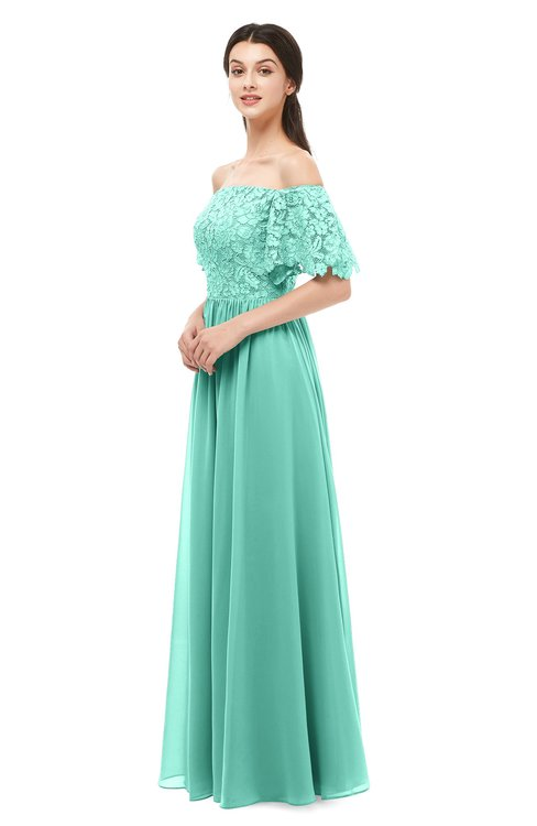 ColsBM Ingrid Mint Green Bridesmaid Dresses Half Backless Glamorous A-line Strapless Short Sleeve Pleated