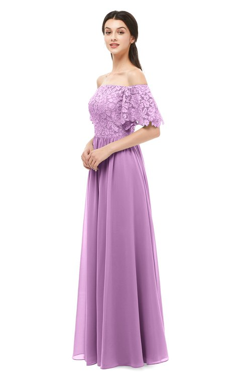 ColsBM Ingrid Orchid Bridesmaid Dresses Half Backless Glamorous A-line Strapless Short Sleeve Pleated