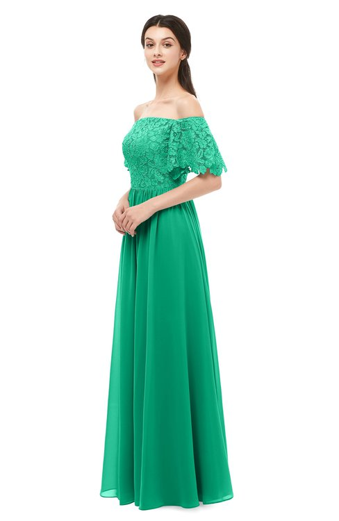 ColsBM Ingrid Pepper Green Bridesmaid Dresses Half Backless Glamorous A-line Strapless Short Sleeve Pleated