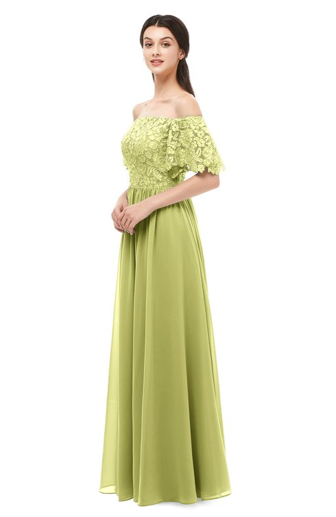 ColsBM Ingrid Pistachio Bridesmaid Dresses Half Backless Glamorous A-line Strapless Short Sleeve Pleated