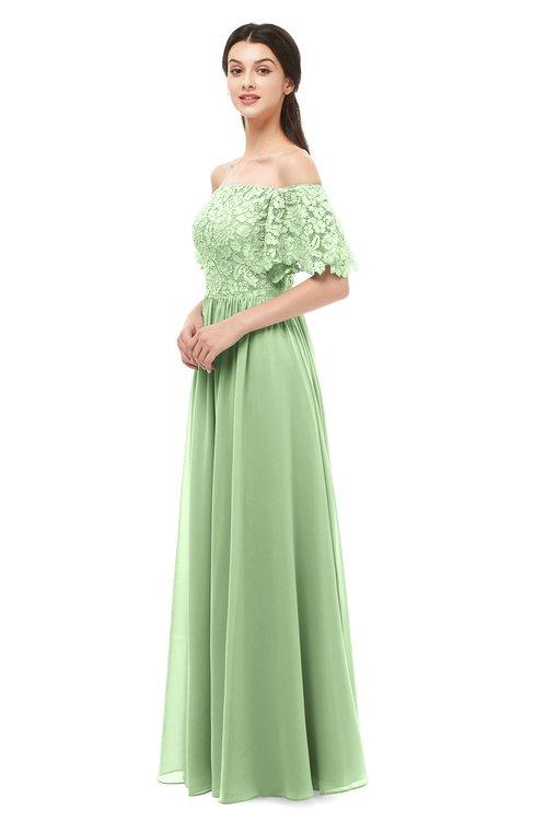 ColsBM Ingrid Sage Green Bridesmaid Dresses Half Backless Glamorous A-line Strapless Short Sleeve Pleated
