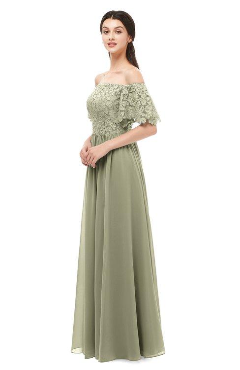 ColsBM Ingrid Sponge Bridesmaid Dresses Half Backless Glamorous A-line Strapless Short Sleeve Pleated