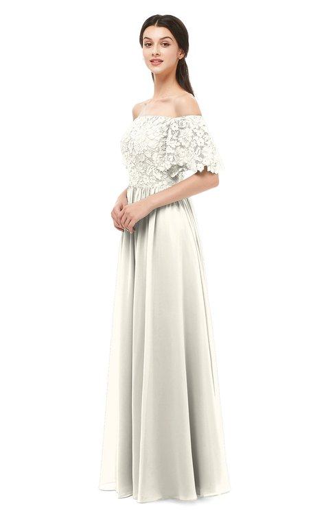 ColsBM Ingrid Whisper White Bridesmaid Dresses Half Backless Glamorous A-line Strapless Short Sleeve Pleated