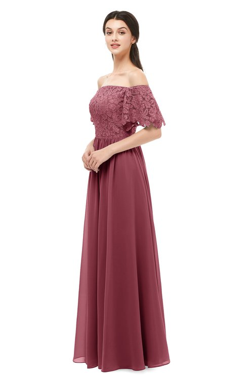 ColsBM Ingrid Wine Bridesmaid Dresses Half Backless Glamorous A-line Strapless Short Sleeve Pleated